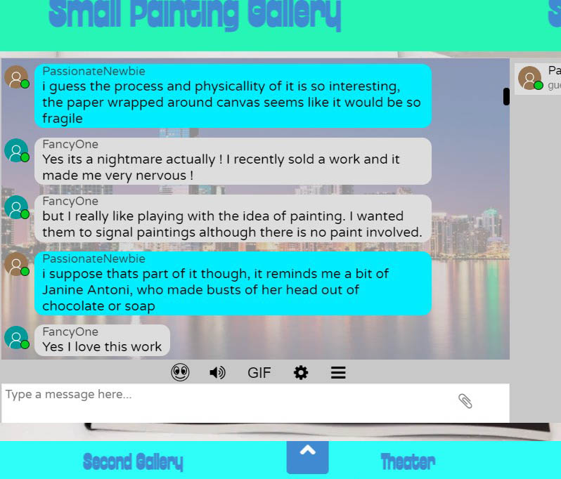 Screen shot of html chat